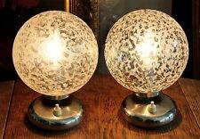 SCHLAFZIMMER CHROM KUGEL LAMPEN 2ER SET - GUSTAV ROSE - 70 S NIGHTSTAND LAMPS