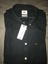 Lee Mens Button Down Shirt Small New