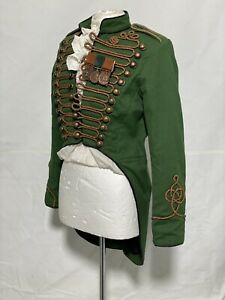 "Girls Steampunk Olive Hussar Tailcoat With Medals Fit Chest 36"",38"",40"""