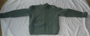 Vintage Loch Erisort Woolens heavy hand knitted pullover made in Great Britain.