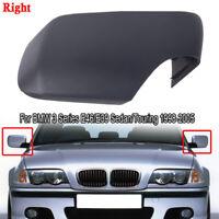 Black Right Side Mirror Cover Caps Set For BMW E46 E39 325i 330i 525i 530i 540i