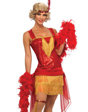 Sexy Red Retro Cotton Club Flapper Girl Beauty Adult Halloween Costume-STD