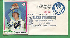 Signed Glenn Abbot Baseball Card /Cover Detroit Tigers 1984 Pitcher - B0773
