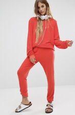 NEW Wildfox Sz S Sweatpant Joggers Lounge Pant Red Drawstring Pants SMALL