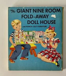 The Giant 9 Room Fold-Away Doll House and Play Book 1951