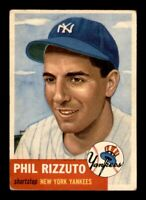 1953 Topps Set Break # 114 Phil Rizzuto VG-EX *OBGcards*