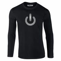 Herren Power Sign Langarm-T-Shirt Geschenk