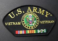US ARMY VIETNAM VETERAN EMBROIDERED CAP SHOULDER PATCH 5.25 X 3 INCHES