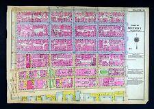 1921 Bromley New York City Map Manhattan Corlears Hook Park Rutgers Broadway