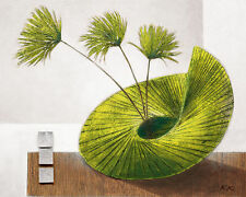Karsten Kirchner: See-Sawing Sea Weed Leinwand-Bild 24x30 Stilleben modern grün