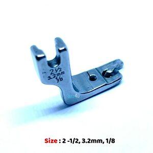 INDUSTRIAL Sewing Machine ROLLED HEM FOOT 3.2mm 1/8 Fits Singer, Brother, Juki