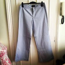 ! nuevo! Abercrombie & Fitch Luz Azul 100% Cotton Chinos muy Pantalones Uk 14/US 10