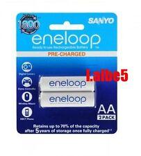 Sanyo Eneloop 2000mAh AA Precharge NiMH Rechargeable Battery HR-3UTGB 2pcs