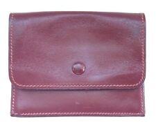 Hermes Vintage Burgundy Leather Wallet