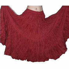 Wevez Modern Tribal Belly Dance Cotton Gypsy Skirt 4 Tier 25 Yard