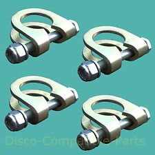 LAND ROVER DEFENDER Track Rod End Ball Joint Clamp & BOLT KIT X 4