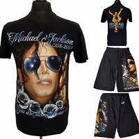 THE ROXX Michael Jackson 1958-2009 You Are Not Alone Black T-Shirt & Shorts M