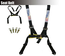 Universal 4 Point Racing Car Safety Harness Strap Seat Belt Bolt In JDM Black