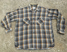 Vintage 1950s Sears Sanforized Flannel Plaid Workwear Shirt