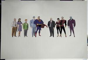 STYLE GUIDE SHEET 1 Adventures Of Superman The Animated Series 1996 WB Rare