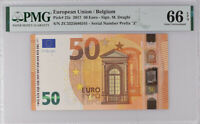 Euro 50 Euro Belgium 2017 P 23 Z ZC3325686341 Prefix Gem UNC PMG 66 EPQ