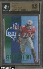 2016 Score NFL Draft Green #4 Ezekiel Elliott Cowboys RC Rookie /20 BGS 9.5