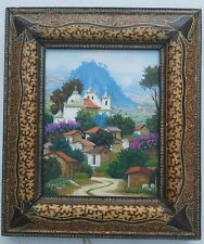 Guatemala Oil Painting on Canvas Famous scenes in  Zunil  Highland rural view.