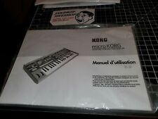 (FRENCH) Korg Microkorg Synthesizer Owner's Manual Users Guide - EXCELLENT NEW