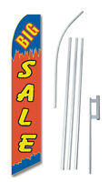 Big Sale R/B Tall Advertising Banner Flag Complete Sign Kit 2.5 feet wide