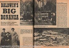 """Elias Jackson """"Lucky"""" Baldwin & His Big Bonanza - Family,Casey,Earp,Flair,Flood,"""