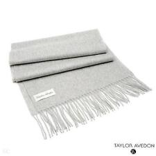 New Taylor Avedon Grey Cashmere Scarf Made in Italy