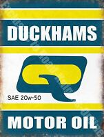 Vintage Garage, Duckhams Motor Oil, Old Advertising 39, Medium Metal Tin Sign