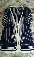kaleidoscope blue and white stripe tie Cardigan 14