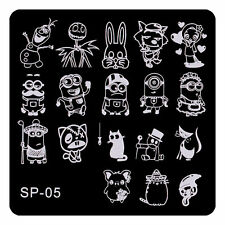 Wolf Rabbit Patterns Nail Art Stamp Stamping Stainless Steel Template SP05