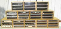 LOT 12 Vintage DMC Thread Cabinet Storage Box 3 Drawer Floss Skein France Crafts