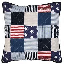 Kissenbezug USA 50x50 Blau Weiß Rot Sterne Stars Landhaus Cushion