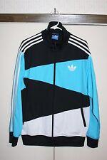 Adidas Track Jacket '11 Multi Black Teal White men XL Poly Athletic Hip Hop EUC