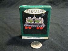 Miniature Hallmark Keepsake Ornament Noel R.R. Milk Tank Car 1990 #7
