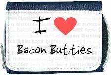 I Love Heart Bacon Butties Denim Wallet