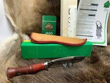 Pre 1964 Puma 6363 VINTAGE Sea Hunter Knife & fodero in cuoio Maniglia Rossa Scatola G/Y