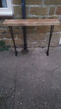 Bespoke H80 x W60 x 20cm steampunk rustic black industrial steel console table