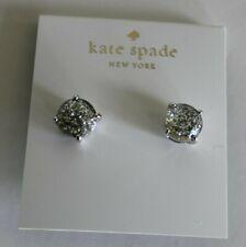 NWT Kate Spade gumdrop studs silver glitter & dust bag
