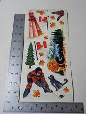 STAMPING STATION CANADA HOCKEY MAPLE LEAVES STICKERS SCRAPBOOKING A2518