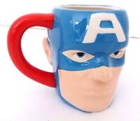 Captain America Sculpted Ceramic Coffee Mug Marvel Comics Officially Licensed