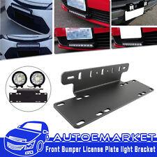 Front Bumper License Plate Mount Bracket Fit For Off-Road LED Driving Light Bar
