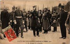 CPA PARIS Visite des souverains anglais 1914 Georges V á Chantilly (305359)