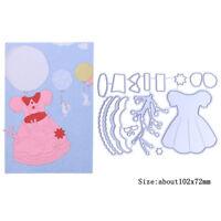 Girl's Dress Metal Cutting Dies Stencil Handcrafts Album Embossing Card Making