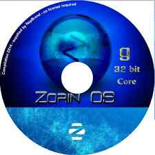 Zorin 9 CORE LTS 32 bit Laptop Desktop  PC Linux Complete Operating System DVD
