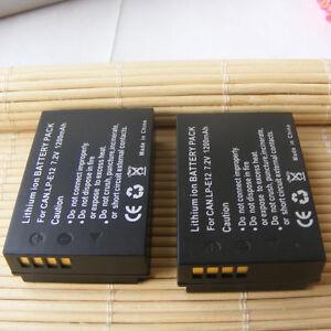 2x LP-E12 Battery 1200mAh for Canon EOS 100D,  EOS M50 M200 Digital Camera