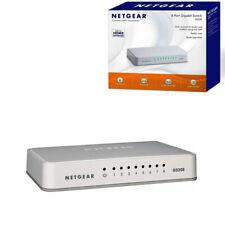 NETGEAR GS208 Network Switch 8 Port Gigabit Desktop Hub White Ethernet Splitter